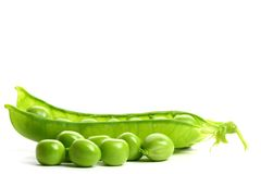 Isolated peas Royalty Free Stock Photos