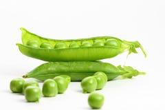 Isolated peas Stock Photo