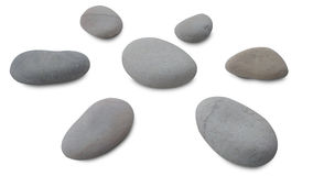 Isolated pebbles sun on white Royalty Free Stock Photo