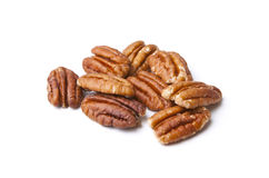 Isolated Pecans Stock Photo