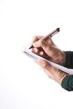 Isolated pen and block Stock Image