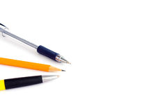 Isolated pen and pencil Royalty Free Stock Photography