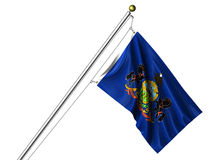 Isolated Pennsylvania Flag Stock Images