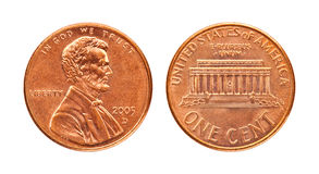 Isolated Penny Stock Photo