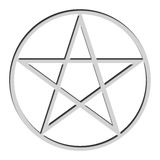 Isolated pentacle Stock Photography