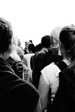 Isolated People Standing in Line Royalty Free Stock Images