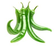 Isolated green peppers Royalty Free Stock Photo