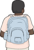 Isolated Person Wearing Backpack Stock Image