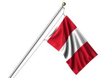 Isolated Peruvian Flag Stock Photo