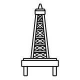 Isolated petro tower, vector graphic Stock Image