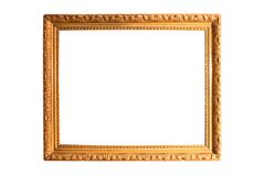Isolated Photo Frame, Golden Antique Photo Frame stock photos