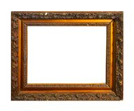 Isolated Photo Frame, Wooden Antique Photo Frame royalty free stock photography