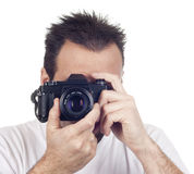 Isolated photography man Stock Images