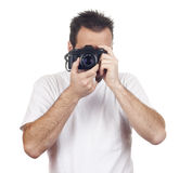 Isolated photography man Royalty Free Stock Image