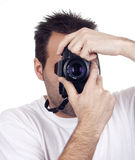 Isolated photography man Royalty Free Stock Photography