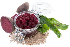 Isolated pickled Beetrot. (on white background Royalty Free Stock Photo