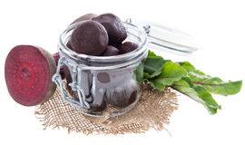 Isolated pickled Beetrot. (on white background Stock Image