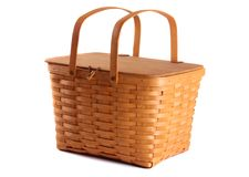 Isolated Picnic Basket Royalty Free Stock Photos