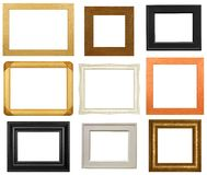 Isolated Picture Frames. Contemporary picture/photo frames isolated on a white background Royalty Free Stock Photo