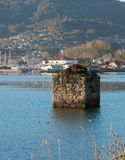Landscape piece of old dock Galicia, Spain stock image