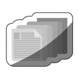 Isolated piece of paper design. Piece of paper icon. Document data archive office and information theme. Isolated design. Vector illustration Royalty Free Stock Photography