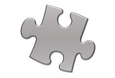Isolated piece of puzzle Stock Image
