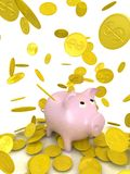 Isolated piggy bank Royalty Free Stock Images
