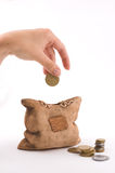 Isolated piggy bank Royalty Free Stock Image