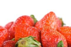 Isolated pile strawberry Royalty Free Stock Image