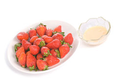 Isolated pile strawberry and yoghurt flavor Stock Photography
