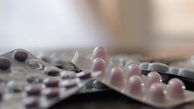 Isolated pills stock footage