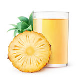 Isolated pineapple juice Royalty Free Stock Image