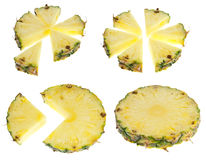 Isolated pineapple slices Royalty Free Stock Image