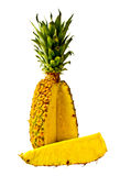 Isolated Pineapple wedge Stock Image