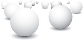 Isolated Ping Pong Balls Stock Images