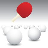 Isolated Ping Pong Balls With Paddle Stock Image
