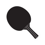 Isolated ping pong racket. Isolated silhouette of a ping pong racket, Vector illustration Royalty Free Stock Images