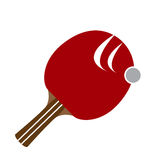 Isolated ping pong racket. On a white background, Vector illustration Stock Photos
