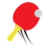 Isolated ping pong racket. On a white background, Vector illustration Stock Images