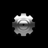 Isolated pinion (gear) Stock Photography