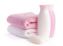 Isolated pink accessory for spa or sauna Stock Image