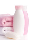 Isolated pink accessory for spa or sauna Stock Photos