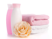 Isolated pink accessory for spa or sauna Royalty Free Stock Images