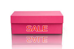 Isolated Pink Box Royalty Free Stock Images
