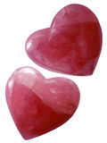 Isolated pink hearts royalty free stock photography