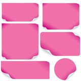 Isolated Pink Paper Sheets. Vector Pack. Stock Photography
