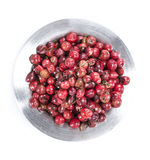 Isolated Pink Peppercorns (in a bowl) Stock Photos