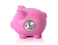 Side view piggy bank Royalty Free Stock Image