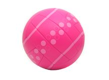 Isolated Pink Volleyball. Pink Volleyball on White Background Royalty Free Stock Image