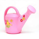 Isolated Pink Watering Can Stock Photo